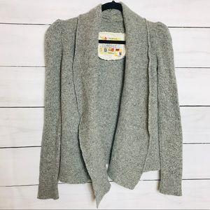 Anthropologie Tokyo Map Sweater Cardigan